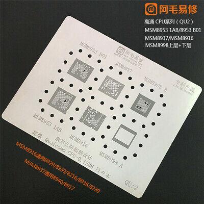10pcs Amaoe Bga Reballing Stencil Kit For Mtk Qualcomm Cpu For Xiaomi Huawei Set