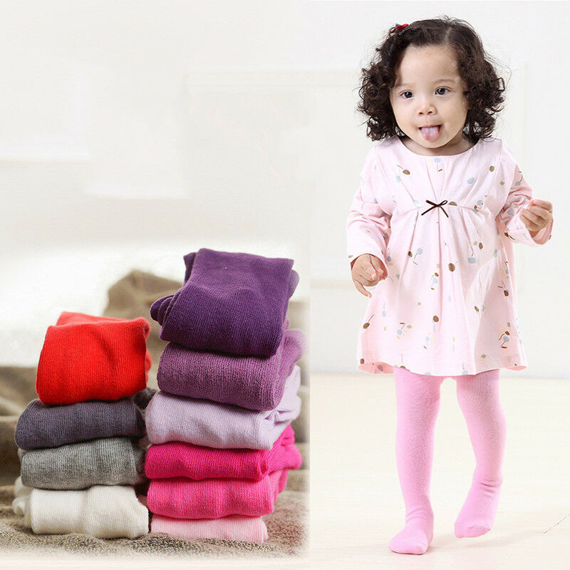 Fall Winter Warm Kids Girl Baby New Born Cotton Knit Pantyhose Tights Stockings