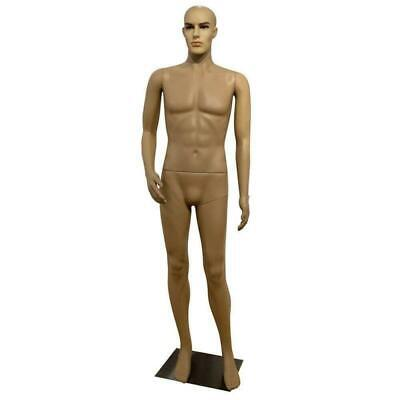 Male Full Body Realistic Mannequin Display Head Turns Dress Form Wbase 185cm