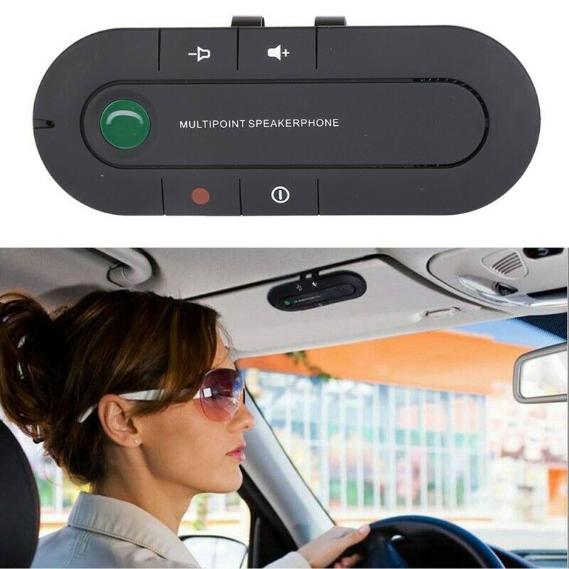 Bluetooth Wireless Handsfree Car Auto Kit Speakerphone Speaker Phone Visor Clips