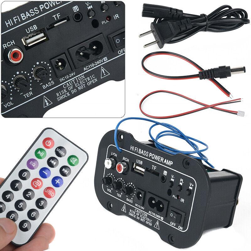 220V Car bluetooth HiFi Bass Power Stereo Digital Amplifier