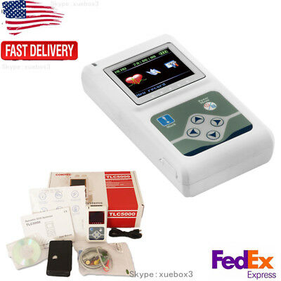 Portable 12 Channel 24h Ecg Ekg Holter Analyze System Recorder Tlc5000 Contec Us