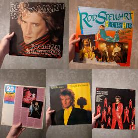 5x Rod Stewart Vinyls albums LP vtg all 10 pound