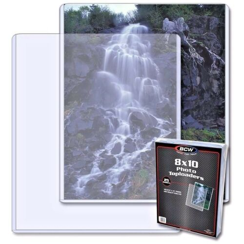 4 New BCW Topload 8X10 Photo Toploaders 8 X10 Top Load Holders FREE SHIPPING