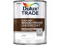 Dulux Trade - Quick Dry Wood primer Undercoat White 5L - NEW