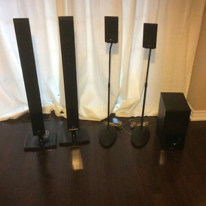 LG blue ray with iPod dock home theatre system 5 speakers