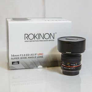 Rokinon 14mm F2.8 Wide Angle Lens for Canon