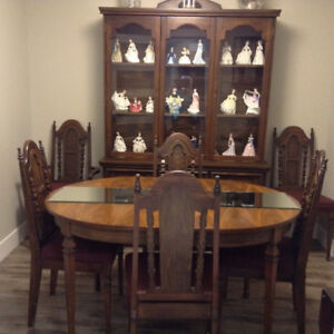 ON SALE!  Incredible deal on 10 piece oak Dining room Set!