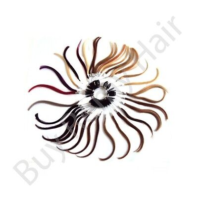Brand New 100% real natural Remy Hair Extension Colour Ring With 33 Colours