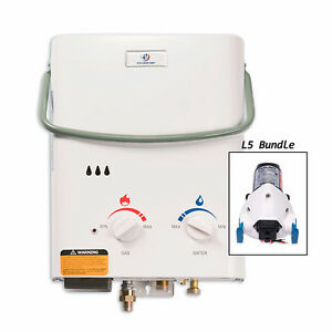 Eccotemp L5 Tankless Water Heater Bundle & 12v Flojet Pump