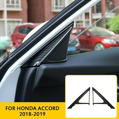 Honda Carbon - For Honda Accord 2018-2019 Carbon Fiber Car Door Front A Pillar Cover Trim Frame