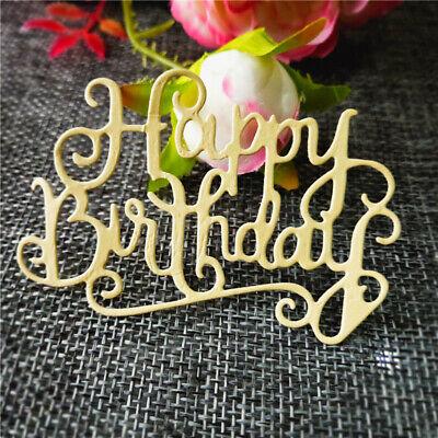 Stanzschablone Happy Birthday Liane Weihnachten Hochzeit Geburtstag Karte Album