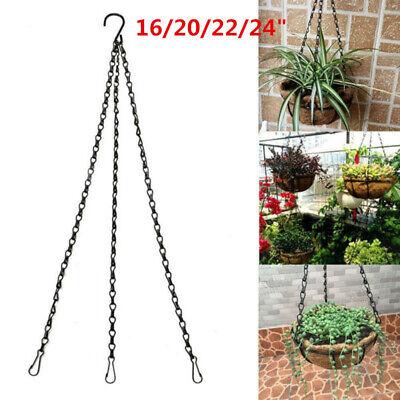 4 Sizes DIY Hanging Flower Plant Pot Chain Basket Planter Holder For Home Decor