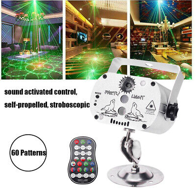 60 Pattern Laser Projector LED RGB Stage Lighting Party KTV DJ Disco Lights Club