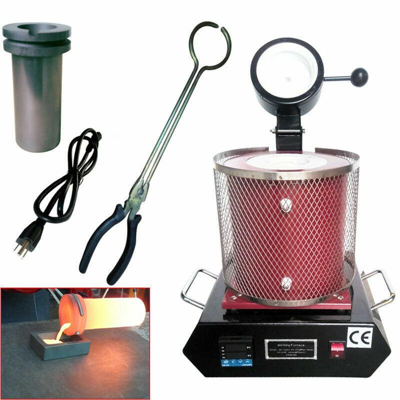 3KG Electric Metal Melting Machine Digital Melter Refining Gold Silver Copper US