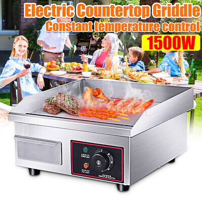 110v 1500w Electric Griddle Flat Top Grill 14 Hot Plate Bbq Countertop Home