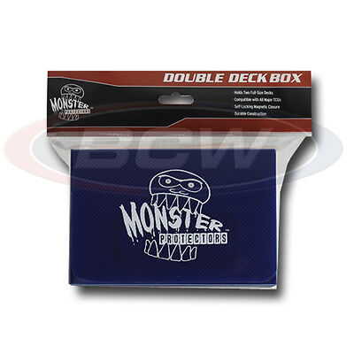 Monster Protectors Yu Gi Oh MTG Magic Double Deck Box, Magnetic Lock - BLUE