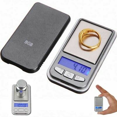 0.01g-100g Mini Slim Elektronische Digitale Waage Gram Schmuck +PE Tasche