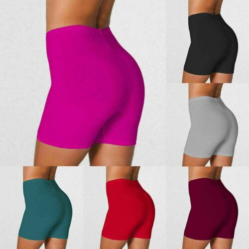 Soft Shorts Stretch Bike Leggings Women's Yoga Fitness Cotto