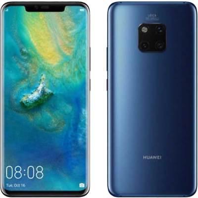 Huawei Mate 20 Pro 4G 128GB شريحتي اتصال أزرق 24 ضمان دولي لأوروبا