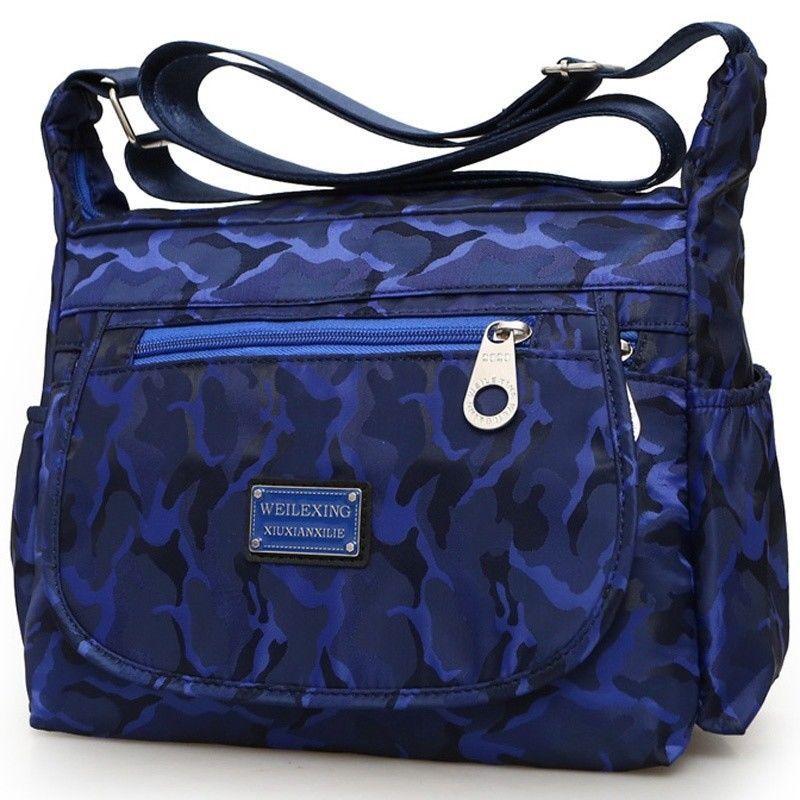 0fe3de5ee32a Details about Women Lady Waterproof Nylon Single-shoulder Messenger  Crossbody Bag Purse Travel