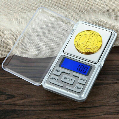 Pocket Size Digital Scale Jewelry Balance Weight Coins Gram LCD 500g x 0.1g US