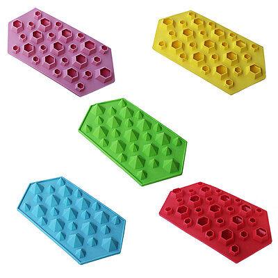 Creative Diamond Shape Mold Ice Cube Tray 27 Cavities Crystal Silicone Ice Mold