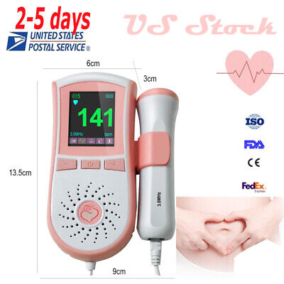 Fetal Doppler Pocket Lcd Prenatal Monitor With 3multrasound Rechangeable Probe A