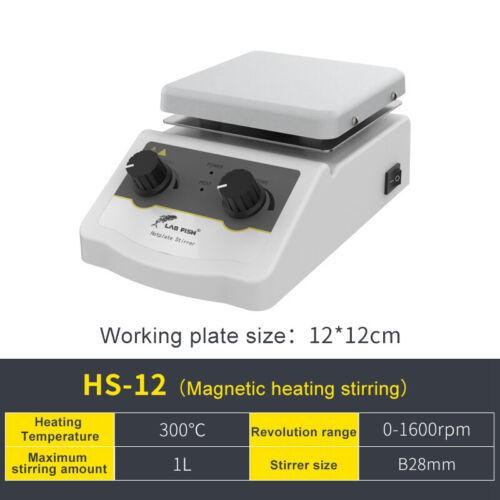 Lab Magnetic Stirrer Hot Plate Mixer,Knob Temperature Control,1L,110V,180W