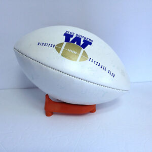 Winnipeg Blue Bombers Football with Stand