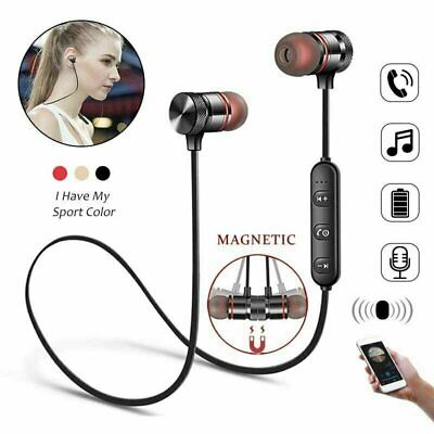 Wireless Bluetooth Sport Gym Headphones Earphones Earbuds Headset with MIC Bass Cell Phone Accessories