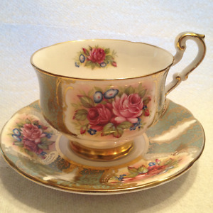 Estate Collection Of Fine Bone China Tea Cups, Plates and Saucer