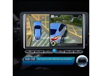Car 3D HD 360° Surround View Panorama System Safe Driving 4CH DVR Camera