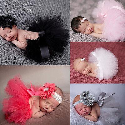 Lovely Baby Newborn Toddler Girls Hairband Tutu Skirt Photo Prop Costume Outfit (Newborn Costumes 0 3 Months)
