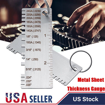 Wire Gauge Thickness Measuring Tool Wiresheet Metal Gage Measurement Plate 72mm