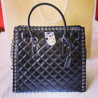 BRAND NEW Michael Kors Black Hamilton Large Leather Tote