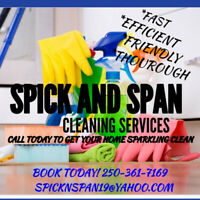 SPICK AND SPAN CLEANING SERVICES $28 an hr