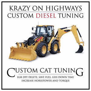 CAT Rubber Tired Backhoes EGR & DPF Removal & MORE!
