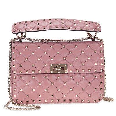 Valentino Rockstud Leather Shoulder Bag - Old Pink