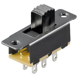 Schiebeschalter 6 Pins 2xUm Schwarz