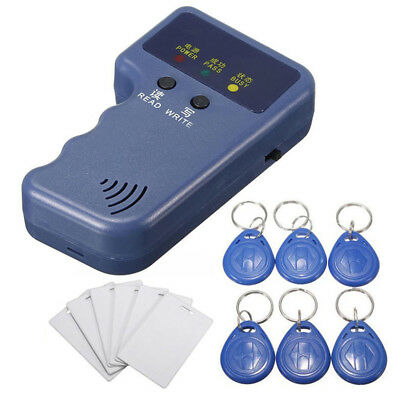 Handheld Rfid Id Card Copier Reader Writer With 6 Writable Tags Cards 125khz