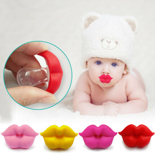 HOT Cute Silicone Kids Infant Baby Pacifier Nipple Shape Funny Big Lip Soother