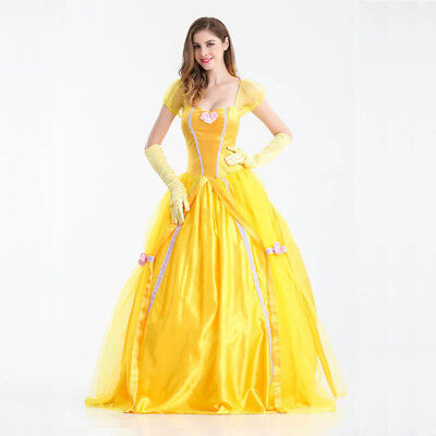 Belle Cosplay Costume Beauty and The Beast Adult Princess Fancy Dress Halloween