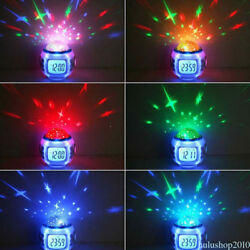 Multi-Funtional Cube 7 Color LED Change Digital Glowing Morning Alarm Clock NEW