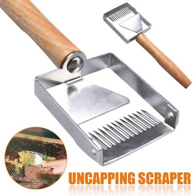 Multi-use Bee Hive Uncapping Honey Fork Scraper Shovel Beekeeping Tool Us Hot