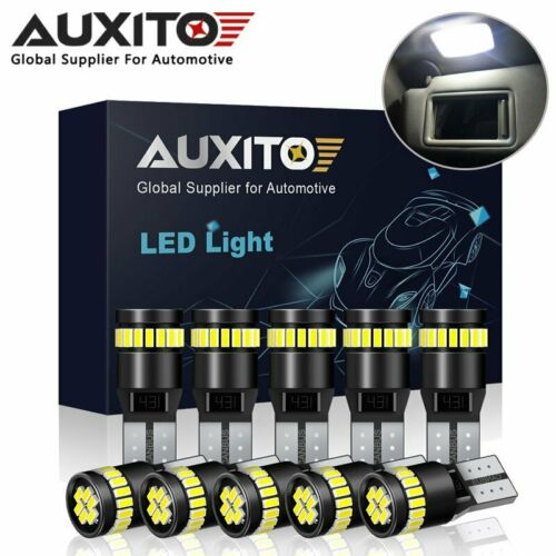 Car Parts - 10X AUXITO 501 W5W T10 LED Number Plate Light Bulbs 194 Canbus Error Free 12V
