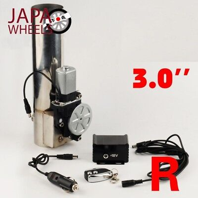 Universal 3 Inch Straight electric exhaust Muffler Valve Cutout System Wir