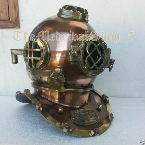 Morse Antique US Navy Mark V Scuba Divers Diving Helmet Deep Sea Marine Diver