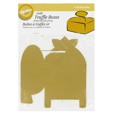 Gold Truffle Box - WILTON GOLD TRUFFLE TREATS PARTY FAVOR BOXES