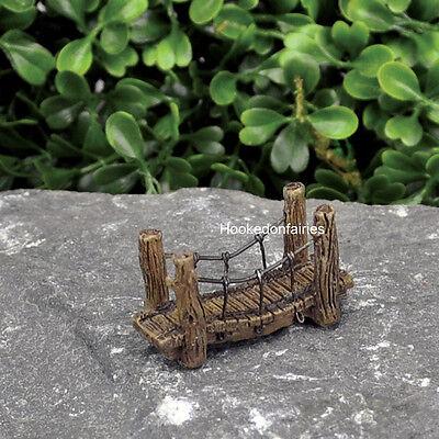 Miniature  Micro Suspension Bridge GO 17428  Fairy Garden  Terrarium (Micro Bridge)